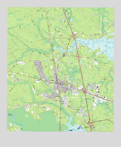 Kingsland GA USGS Topographic Map