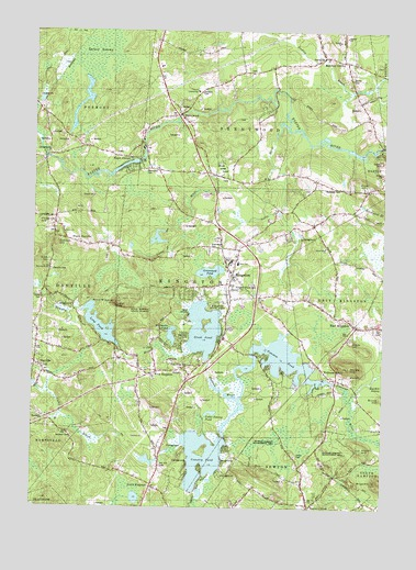 Kingston, NH USGS Topographic Map
