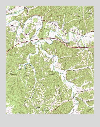 Kingston Springs, TN Topographic Map - TopoQuest