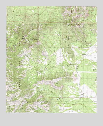 Kitt Peak, AZ USGS Topographic Map