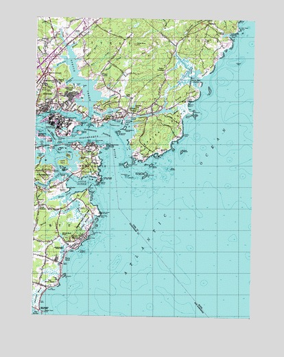 Kittery Me Topographic Map Topoquest