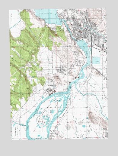 Klamath Falls Or Topographic Map Topoquest