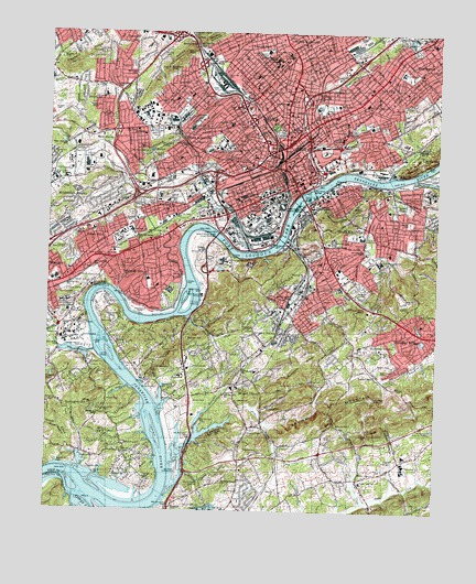 Knoxville, TN Topographic Map - TopoQuest