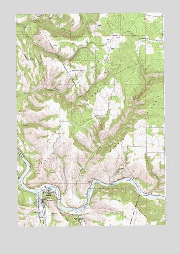 Kooskia Id Topographic Map Topoquest