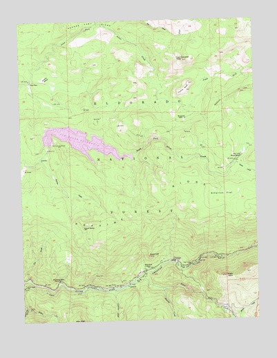 Kyburz, CA USGS Topographic Map