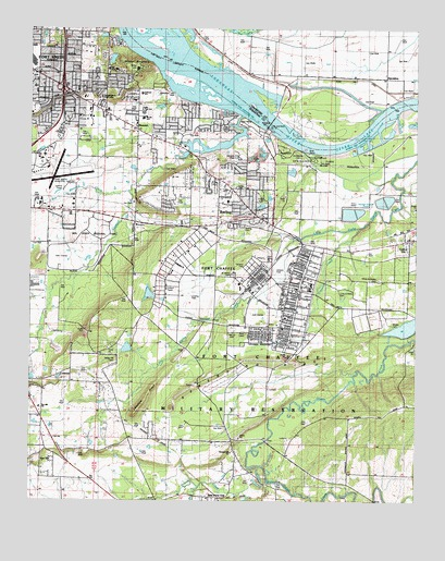 Barling, AR USGS Topographic Map