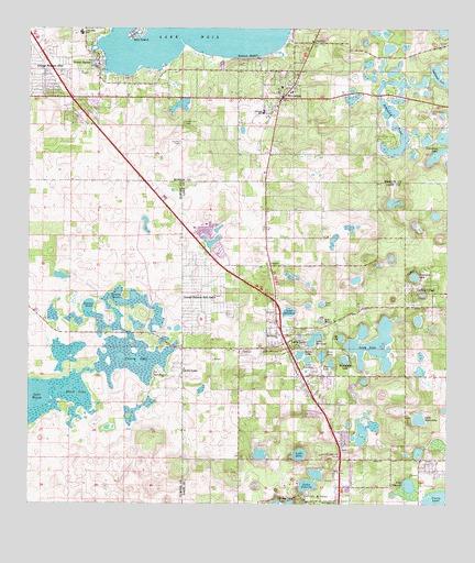Lady Lake, FL Topographic Map - TopoQuest