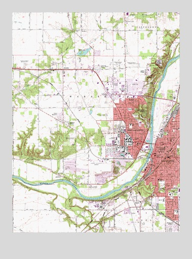 Lafayette West IN Topographic Map TopoQuest - Lafayette map