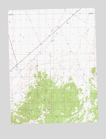 Lages Station NV Topographic Map TopoQuest - Lages map