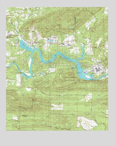 Lake Catherine, AR Topographic Map - TopoQuest