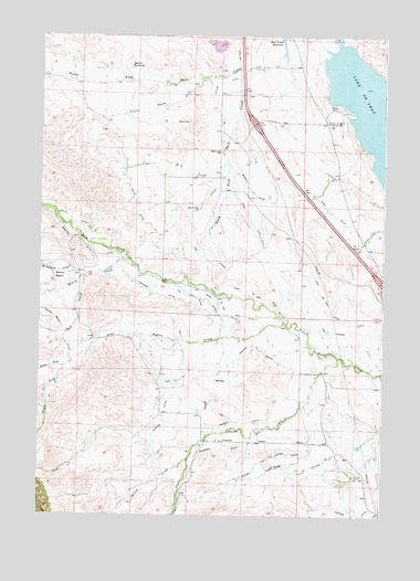 Lake De Smet West, WY USGS Topographic Map