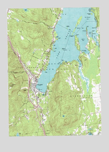 Lake George, NY Topographic Map - TopoQuest