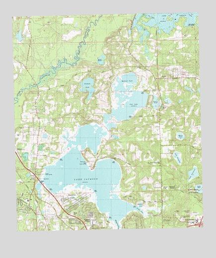 Lake Jackson, FL Topographic Map - TopoQuest