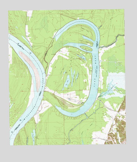 Lake Mary, MS USGS Topographic Map