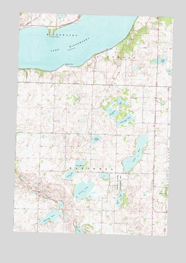 Lake Minnewaska, MN USGS Topographic Map