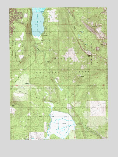 Lake of the Woods South, OR USGS Topographic Map