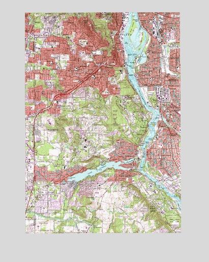 lake oswego oregon map Lake Oswego Or Topographic Map Topoquest lake oswego oregon map