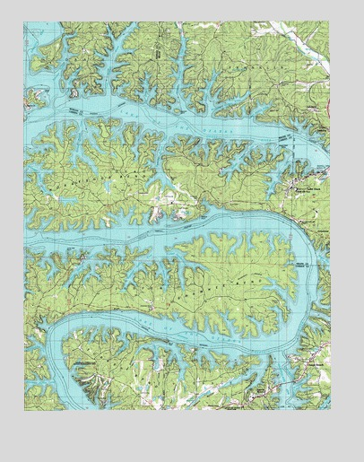 Lake Ozark MO Topographic Map TopoQuest - Missouri lakes map