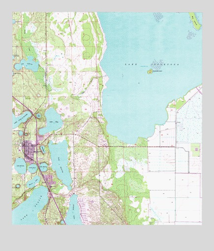Lake Placid, FL Topographic Map - TopoQuest