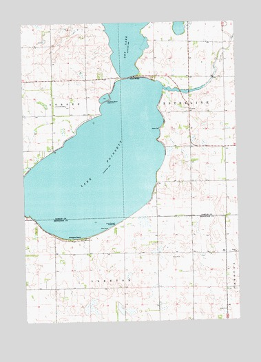 Lake Poinsett, SD USGS Topographic Map