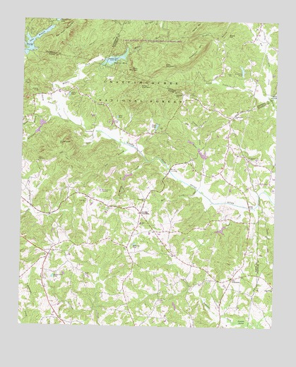 Lake Russell, GA USGS Topographic Map