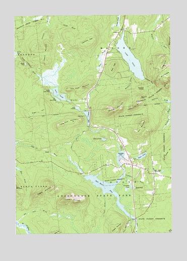 Lake Titus, NY Topographic Map - TopoQuest