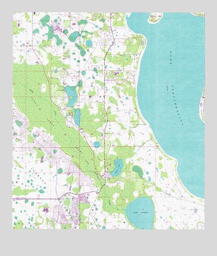 Lake Tohopekaliga, FL Topographic Map - TopoQuest