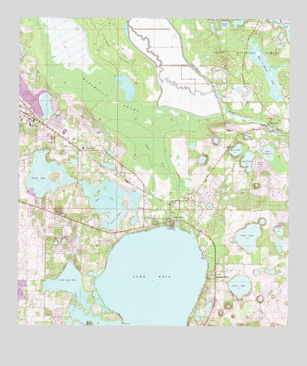 Lake Weir, FL USGS Topographic Map