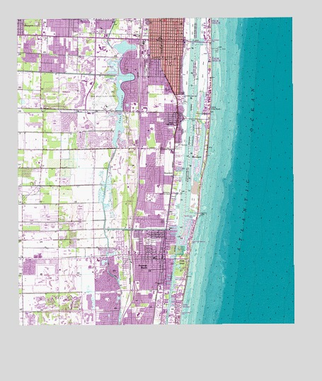 Map Of Lake Worth Florida.Lake Worth Fl Topographic Map Topoquest