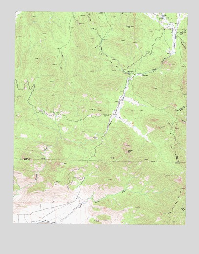 Lamont Peak, CA USGS Topographic Map
