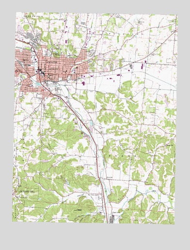 Lancaster Oh Topographic Map Topoquest