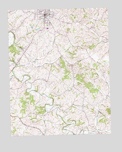 Lancaster ky topographic map topoquest lancaster ky usgs topographic map publicscrutiny Choice Image