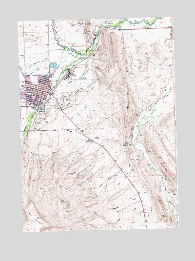 Lander, WY USGS Topographic Map