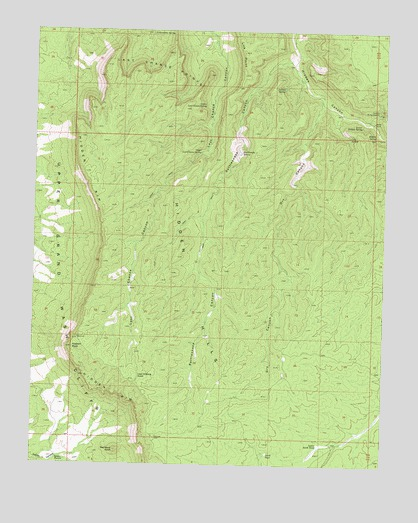 Last Chance Canyon, AZ USGS Topographic Map