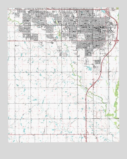 Lawton, OK USGS Topographic Map