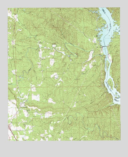 Lay Dam, AL USGS Topographic Map