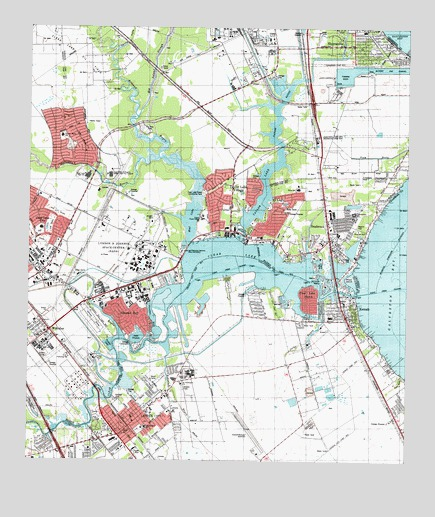 Map Of Texas League City.League City Tx Topographic Map Topoquest