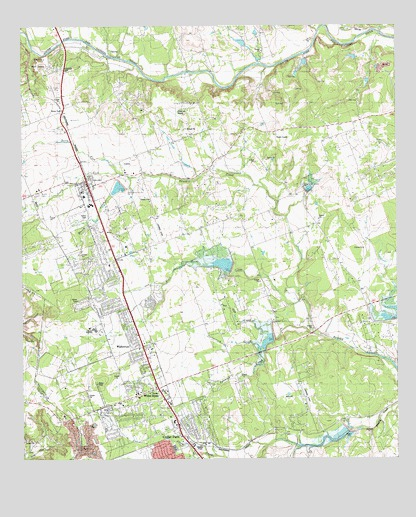 Leander, TX Topographic Map - TopoQuest on