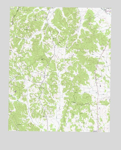 Leapwood, TN USGS Topographic Map