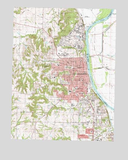 Leavenworth, KS Topographic Map - TopoQuest