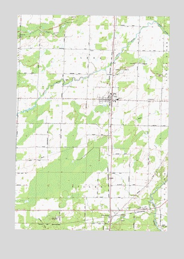 Lena, WI USGS Topographic Map