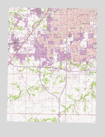 Lenexa Kansas Map.Lenexa Ks Topographic Map Topoquest