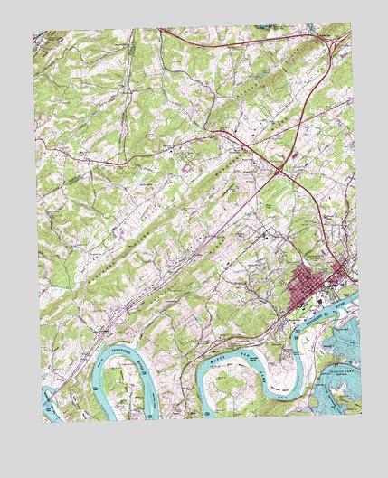 Lenoir City Tn Topographic Map Topoquest