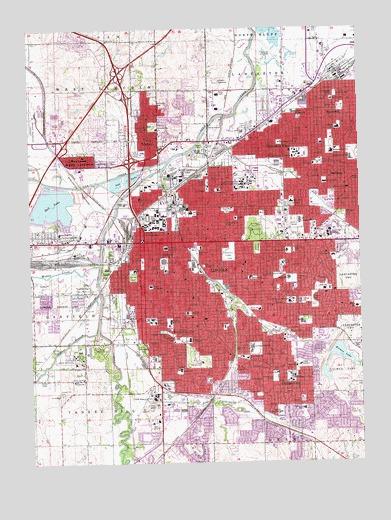 Lincoln, NE Topographic Map - TopoQuest