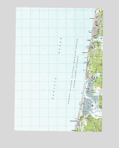 Lincoln City Or Topographic Map Topoquest