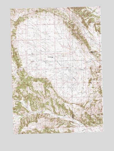 Little Buffalo Basin, WY USGS Topographic Map