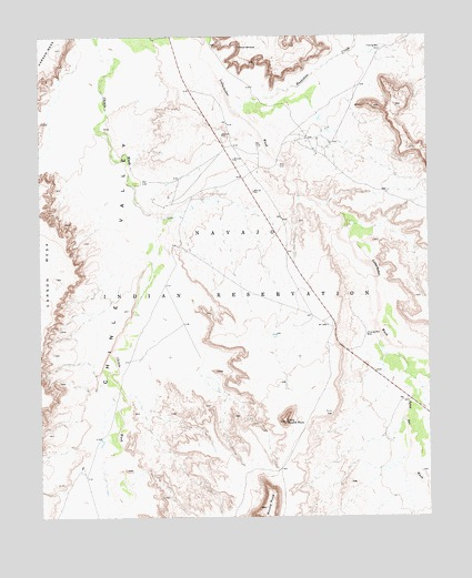 Little Round Rock, AZ USGS Topographic Map