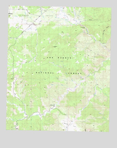 Lockwood Valley, CA USGS Topographic Map