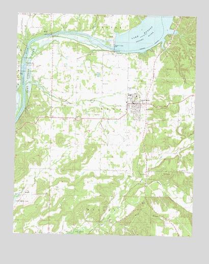 Grove Oklahoma Map.Locust Grove Ok Topographic Map Topoquest