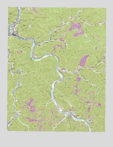 Logan, WV USGS Topographic Map